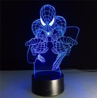 Светильник 3D человек паук