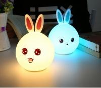 Ночник силиконовый (зайка) светильник кролик