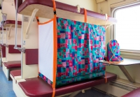 манеж Цветной для детей в поезд