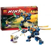 Конструктор Ниндзя 575 дет Летающий робот Джея