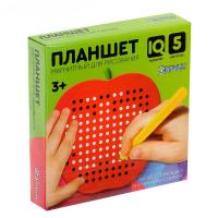 Магнитный планшет яблоко маленькое, 142 отверстий, цвет красный