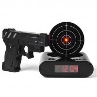Часы-будильник Пистолет с лазерной мишенью Меткий стрелок
