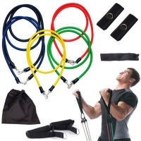 Набор резинок для фитнеса Эспандер трубчатый набор из 5 шт