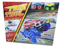 Trix Trax трек с двумя машинками, комплектом с верёвкой и комплектом препятствий