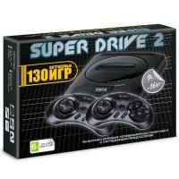 Sega Super Drive 2 Classic (130-in-1) Black. Сега 16bit