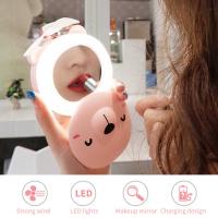 Кольцевая лампа селфи мини с зеркалом и вентилятором