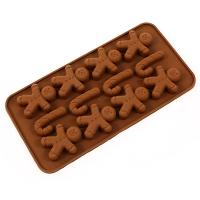 Форма силиконовая д конфет пряничный человечек