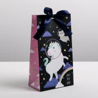 Пакет подарочный с лентой Just for you, 13 × 23 × 7 см