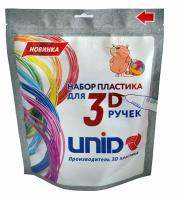 UNID Набор пластика для 3D ручек: ABS6 по 10м. 6 цветов