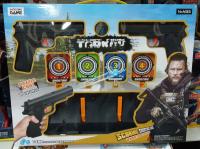 Пистолет с пульками и мишенью набор 738