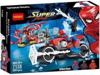 Конструктор Супергерои 260 7135 человек паук на мотоцикле