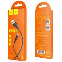 Кабель USB - microUSB HOCO X25 1m силиконовый