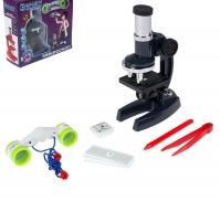 Набор биолога 8 предметов: микроскоп, бинокль, слайды, пинцет, игла, образец клеток, МИКС