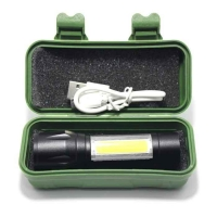 Ручной фонарик USB Р-510 + боковой COB
