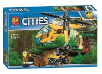 Конструктор 216 дет. Грузовой вертолёт исследователей джунглей