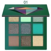 Тени для век Huda Beauty 01 (зеленые)