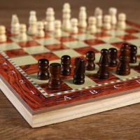 Набор 3 в1 (нарды, шашки, шахматы), под красное дерево, 24х24 см 2865266