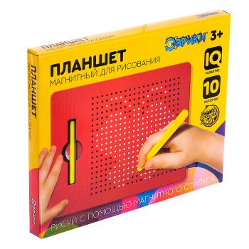 Планшет обучающий «Магнитное рисование», 380 отверстий, цвет чёрный