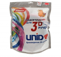 UNID Набор пластика для 3D ручек: PLA-15 (по 10м. 15 цветов в коробке)