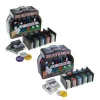 Набор для игры в покер: 2 колоды карт, фишки 200 шт., сукно 60x90 см, микс 440630