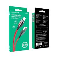 Кабель USB - microUSB BOROFONE BU14 1.2 m в оплетке Red