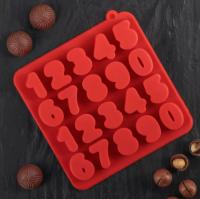 Форма для льда и шоколада «Цифры», 20 ячеек