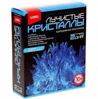 Набор для выращивания кристаллов, хим.реактивы, 13,5х11,3х4см, 10+, 8 цветов ЛОРИ