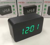 Электронные часы в деревянном корпусе VST-863