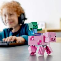 Конструктор 11473 BigFig Свинья и Зомби-ребенок Аналог Lego 21157