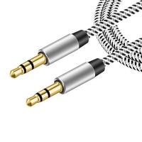 Аудио кабель AUX с оплеткой 3.5 мм аукс