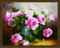 Букет нежных роз алмазная вышивка 40х50