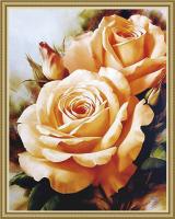 Чайные розы алмазная вышивка 40х50