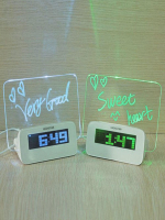 Часы будильник с доской для записей, LED HSD 11140A