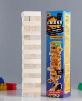 """Падающая башня """"Правда или действие"""" 54 бруска, 32.8х7.2 см"""