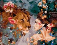 Девушка и лев GX 23397 Картина 40х50
