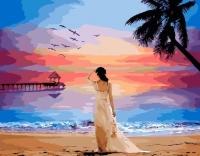 Девушка на закате Картина 40х50