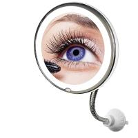 Зеркало для макияжа с подсветкой Х10 увеличение длинный штатив
