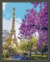 Эйфелева башня алмазная вышивка 40х50