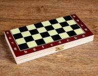 """Настольная игра 3 в 1 """"Карнал"""": нарды, шахматы, шашки, доска дерево 20.5х20.5 см, микс 273155"""