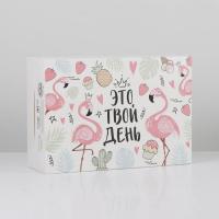 Коробка складная «Фламинго», 16 × 23 × 7.5 см