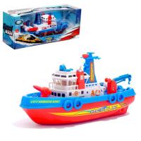 Детский корабль «Городская Гавань», работает от батареек, плавает и стреляет водой, МИКС