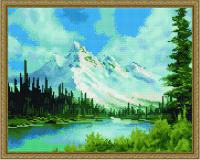 Горный пейзаж алмазная вышивка 40х50