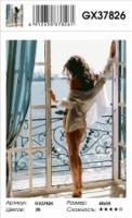 Девушка на балконе GX 37826 Картина 40х50