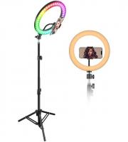 Кольцевая лампа 20 см, цветная MJ 20 ZJ 156
