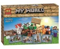 КОНСТРУКТОР Bela Minecraft Верстак 8 в 1 10177 (аналог Lego Minecraft 21116) 517 дет