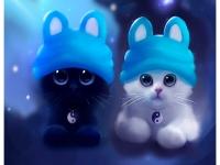 Котята в шапочках Картина 40х50