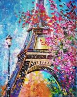 Краски весеннего Парижа Картина 40х50