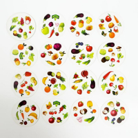 Настольная игра «Дуббль. Овощи и фрукты» на реакцию и внимание, 20 карт, 5+