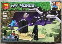 Конструктор Нападение черного дракона Мой Мир 228дет.
