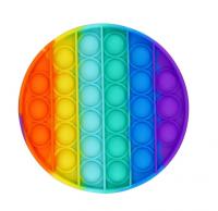 POP IT поп ит антистресс пупырки last one lost в виде радужного круга и шестигранника